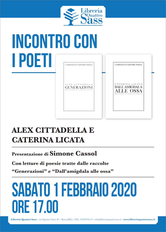 Incontro con i poeti Caterina Licata e Alex Cittadella